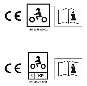 Pittogrammi omologazione guanti